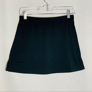 Bolle black a-line skirt w biker shorts, size S